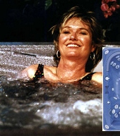 Woman in Hot tub smiling